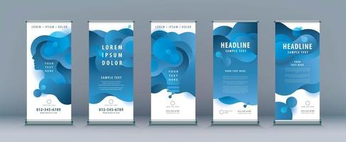 Abstract Liquid Shape banner set vector