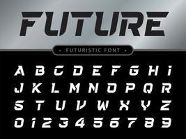 Technology styled font