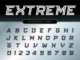 Extreme stylized font vector