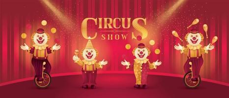 Funny party circus Costume vector