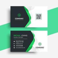 diseño creativo de plantilla de tarjeta de visita vector