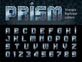 Prism Alphabet Letters and numbers vector