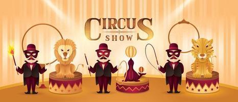 conjunto de atores de circo vetor