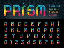 letras del alfabeto geométrico y números vector