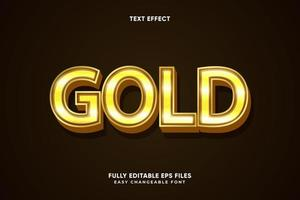 Editable Gold text effect vector