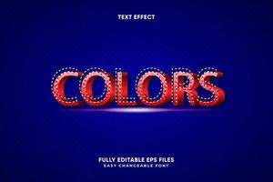 Editable Colors text effect vector