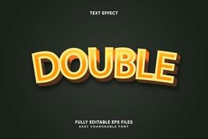 Editable Double text effect vector
