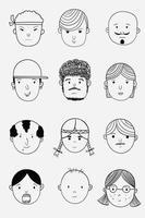 Faces of people from various countries vector