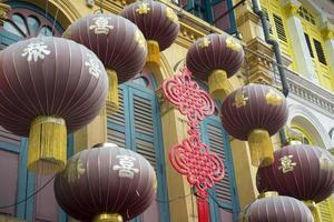 decoración del barrio chino foto