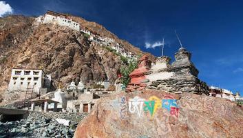 Karsha gompa - buddhist monastery in Zanskar photo