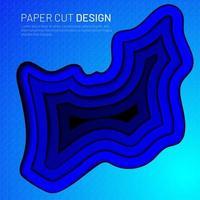 Überlappendes 3D-Formmuster der blauen Gradientenflüssigkeit