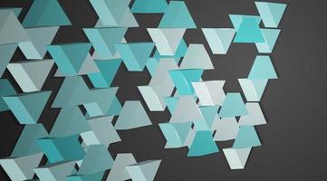 3D-Dreieck-Designkomposition im blauen und grauen Hintergrund