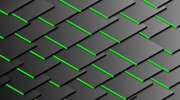 textura de azulejo 3d gris con acentos verdes. vector