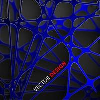 Abstract dark blue lines overlapping 3D graphic paper background  vector
