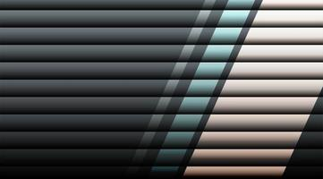 Overlapping horizontal 3d stripes background  vector