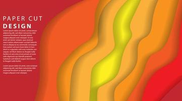 Papercut multi layers 3D color texture background  vector