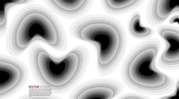 Fluid black and white gradient shapes background  vector
