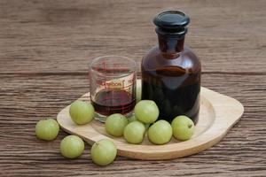 Indian gooseberry liqueur, alternative medicine photo