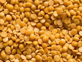 uncooked indian dhal lentil food background