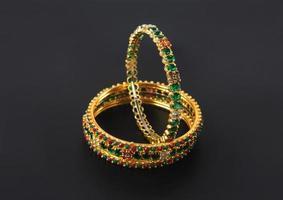 Wedding gold bracelets photo
