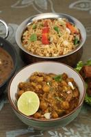 Chana Masala or Spicy Chickpeas, Indian Food photo