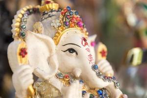 ganesh, deus elefante, figura closeup