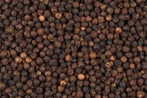 Black pepper zoomed in on photo