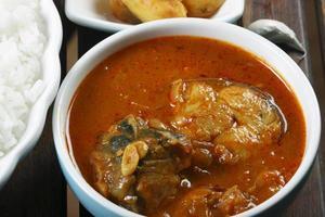 pescado al curry varuthuracha foto