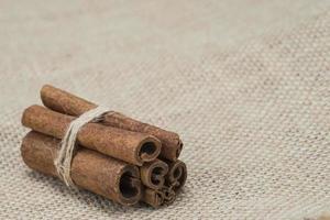 Cinnamon on a burlap