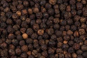 Black pepper zoomed in on