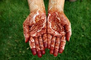 Beautiful hand with henna design