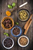 cups of mixed spices photo