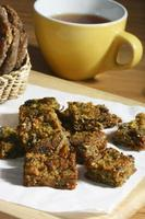Kothimbir Vadi -  is a starter snack from Maharashtra