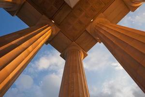 pilares do memorial de lincoln