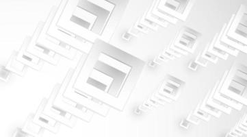 White stacked 3d square shapes background