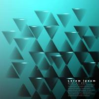 Geometric  abstract background with blue green  triangles