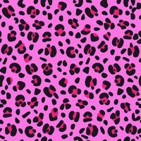 Seamless pink leopard texture pattern. vector