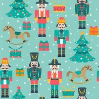 Christmas seamless pattern with nutcrackers