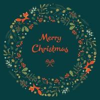 guirlanda de feliz Natal. vetor