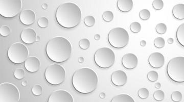 Circle 3d paper shapes background with drop shadow  vector