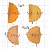 personagens da coleção empanada vetor