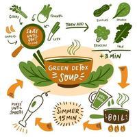 Green soup Detox vector