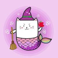 sirène chat sorcière
