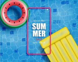 promotion des achats pour la saison estivale.