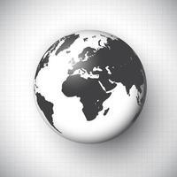 World globe background vector