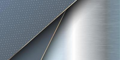 Brushed metal banner vector