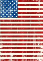 Vertical Grungy American Flag vector