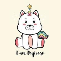 Dogicorn cute cartoon