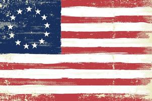 Grungy Betsy Ross Flag vector