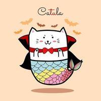 sirène chat dracula